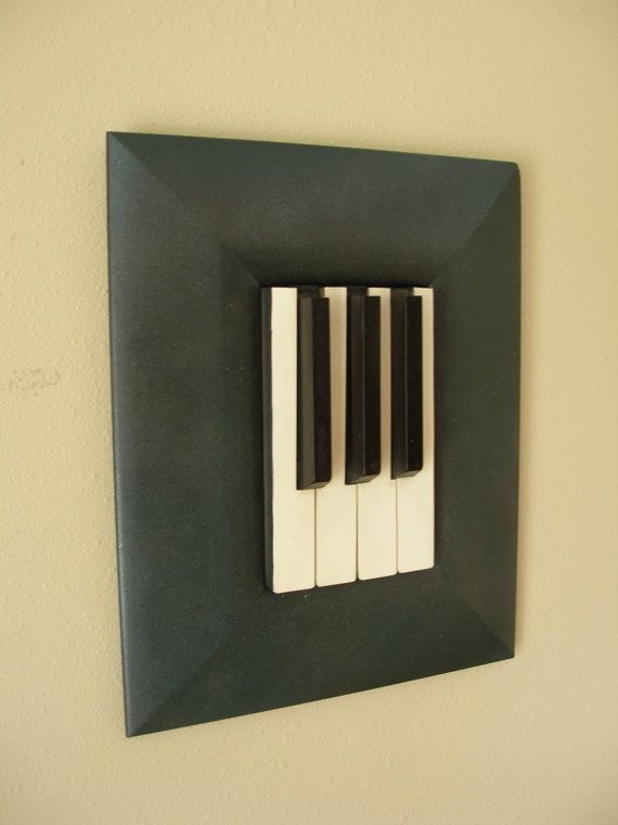 Unique Upcycled Piano Art...Vintage 1800's by skramstadprimitives, $35.00  Something like this would be cute!
