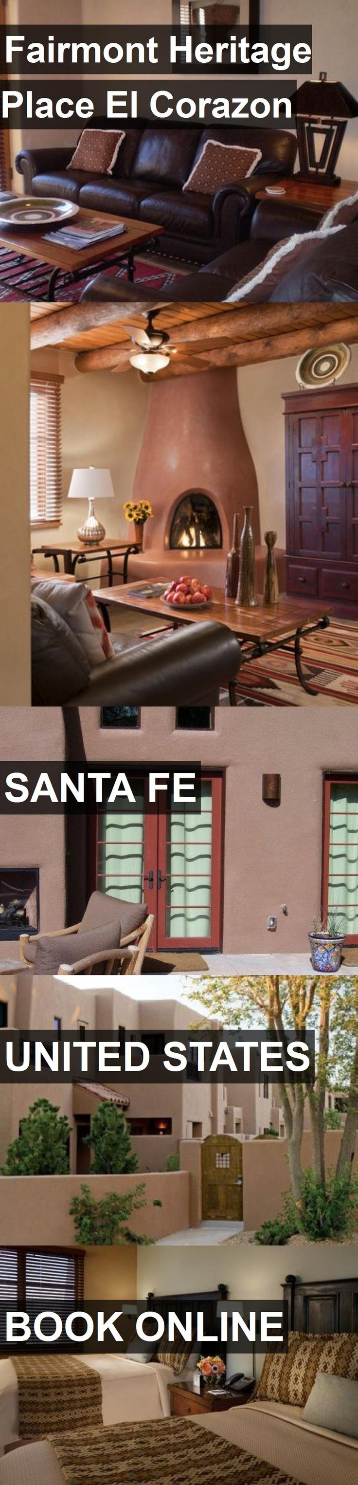 Hotel Fairmont Heritage Place El Corazon in Santa Fe, United States. For more information, photos, reviews and best prices please follow the link. #UnitedStates #SantaFe #travel #vacation #hotel