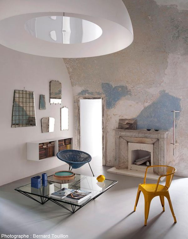 Shabby chic unfinished walls the wall paint colors and treatments
