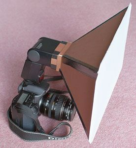 Store bought soft box = expensive. Get rid of harsh shadows with this easy to make soft box.