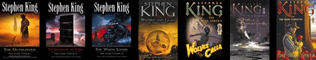 "The Dark Tower Series by Stephen King. ""The man in black fled across the desert, and the gunslinger followed."""