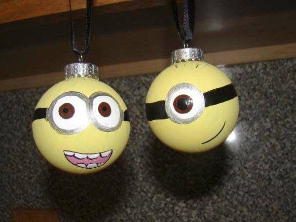 Minion kerstballen DIY