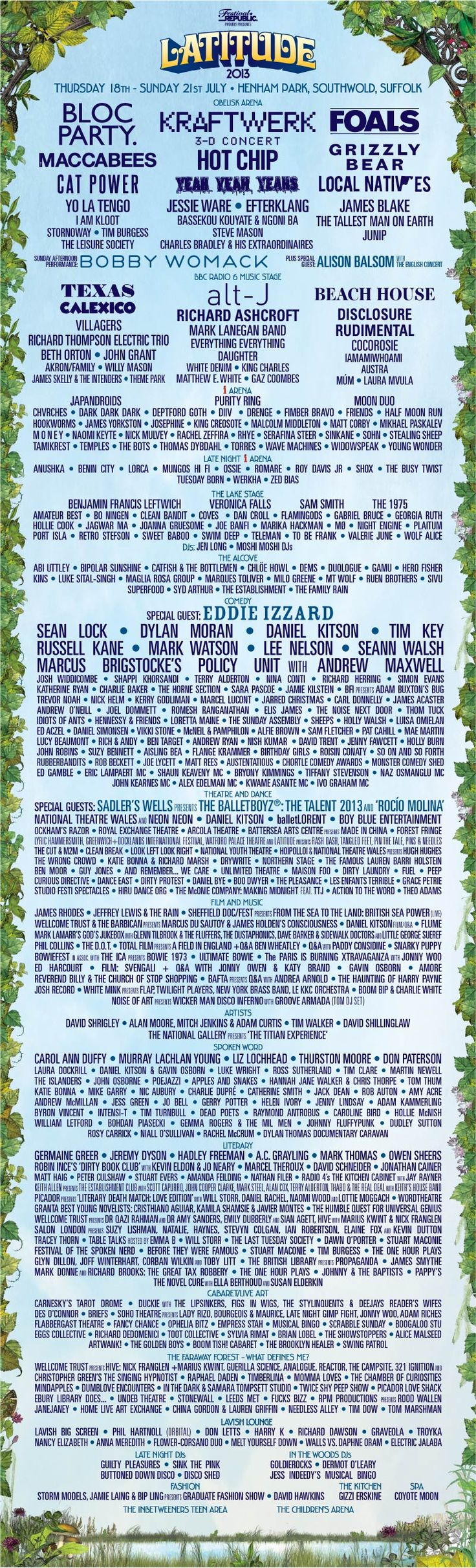 Latitude Festival 2013 Line-Up Look closely and you'll find Mindapples!