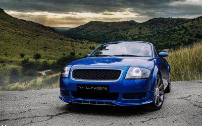 Scarica sfondi Vilner, tuning, Audi TT roadster, blu tt, auto tedesche, Audi