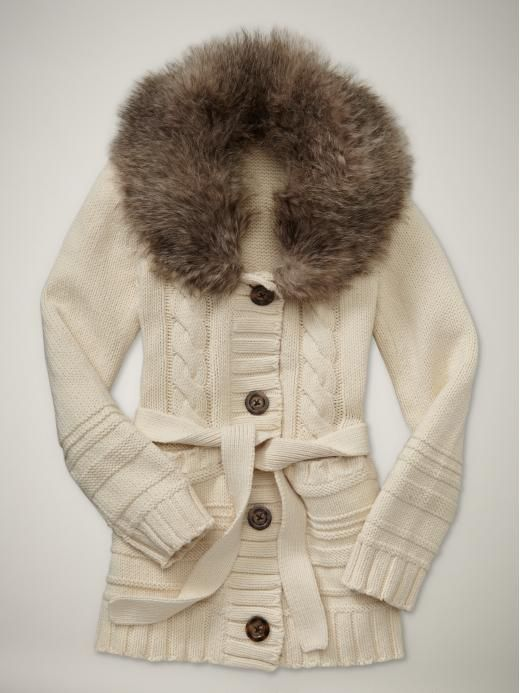 51 best Sweaters images on Pinterest | Fur trim, Sweater coats and ...
