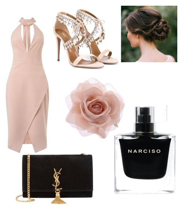"""""""Untitled #7"""" by mayapriskilla on Polyvore featuring Miss Selfridge, Yves Saint Laurent, Aquazzura, Accessorize, Narciso Rodriguez, women's clothing, women, female, woman and misses"""