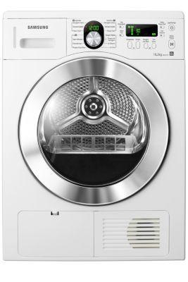 A secadora da Samsung oferece tecnologia de ponta para conciliar as tarefas diárias. Sua grande capacidade permite que você seque mais roupas em uma única carga e o sensor de secagem garante que as roupas fiquem completamente secas, sem a necessidade de redefinir o tempo. Além disso, seus recursos que não danificam os tecidos e suas funções fáceis de usar tornam a lavagem e a secagem de roupas uma experiência mais agradável.