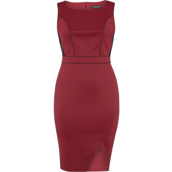 Dorothy Perkins **DP Curve Berry Bodycon Dress ($49) ❤ liked on Polyvore featuring dresses, red, bodycon cocktail dress, plus size dresses, red cocktail dress, plus size cocktail dresses and womens plus dresses