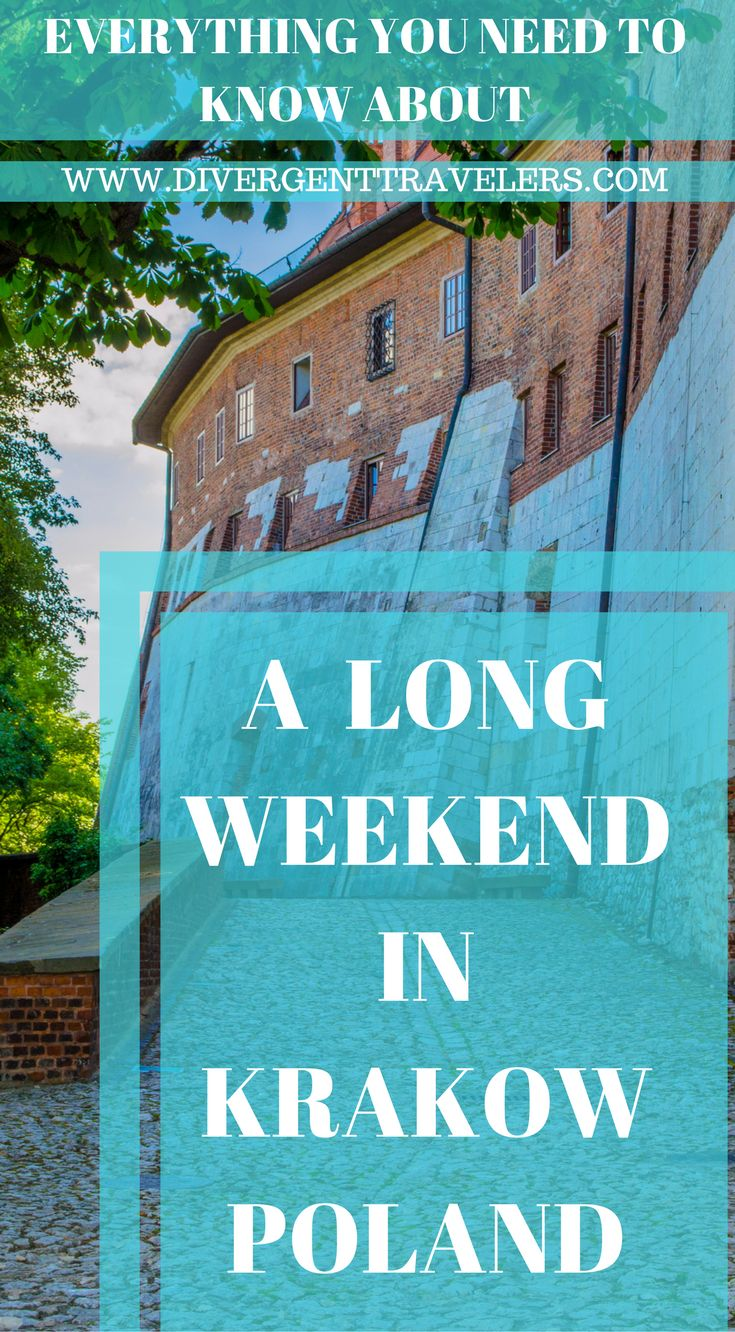 Everything you need to know about a long weekend in Krakow Poland. A historical and cultural gem inPoland'scrown,Krakowis an ideal destination if you're looking for legendary castles, magnificent churches, bustling marketplaces and a fantastic nightlife. Visitors from all over the world end up lovingKrakow. Click to read more at https://www.divergenttravelers.com/things-to-do-in-krakow-poland/ #Krakow #Poland #Longweekend