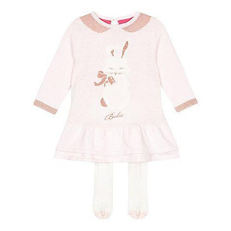 Baker by Ted Baker Babies pink bunny peplum dress and leggings set- at Debenhams Mobile