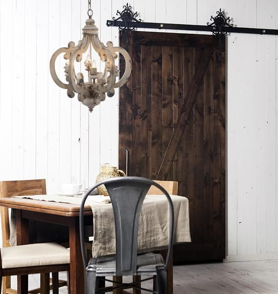 White Distressed Painted 6 Light Chandelier: This stunning piece will add an elegant touch to your home. Use it in your entryway hallway dining room or kitchen