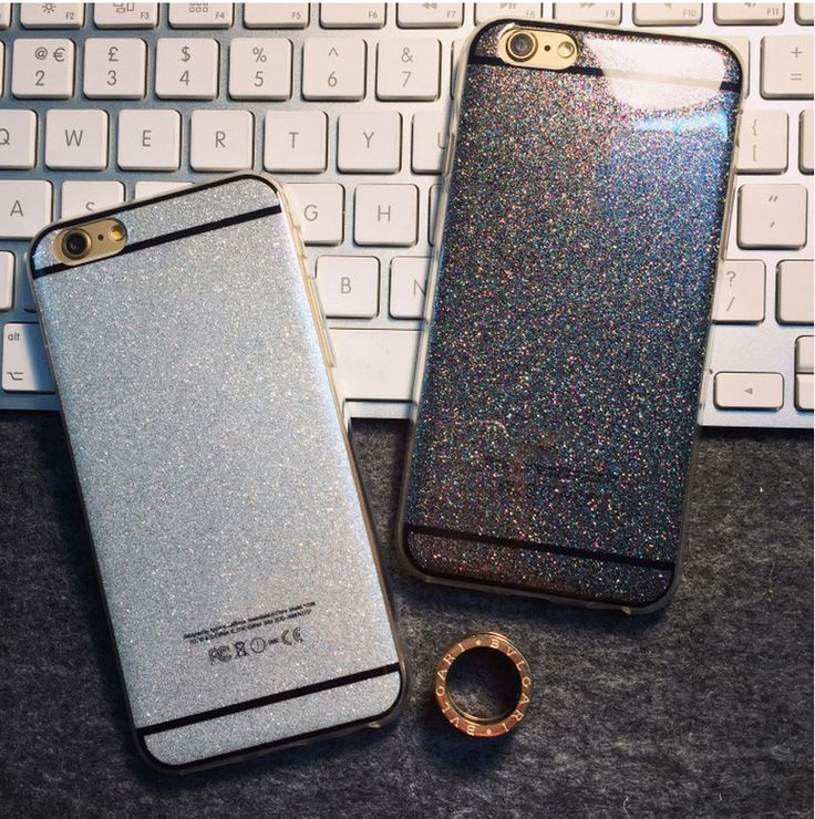 Fashion Glitter Case For Apple iPhone 6 6s Silica Gel 6plus 6s Plus 5s Solid…