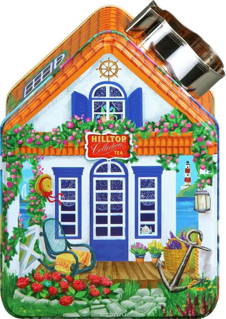 Купить Hilltop Морской домик с рецептом Эрл Грей черный листовой чай, 100 г в…