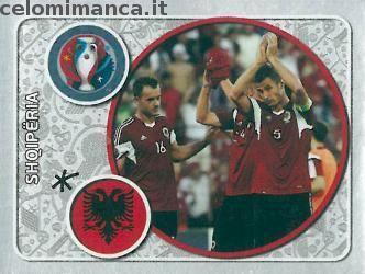 UEFA EURO 2016™ Official Sticker Album: Fronte Figurina n. 13 Shqipëria Team