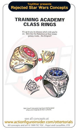 Rejected Star Wars product ideas. Want that training academy class ring so bad.
