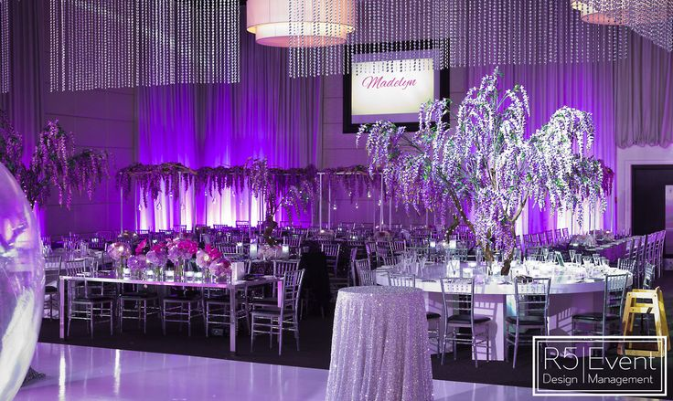 Incredible flowers, trees, crystals and beautiful details!! Full service event decor by R5 Event Design