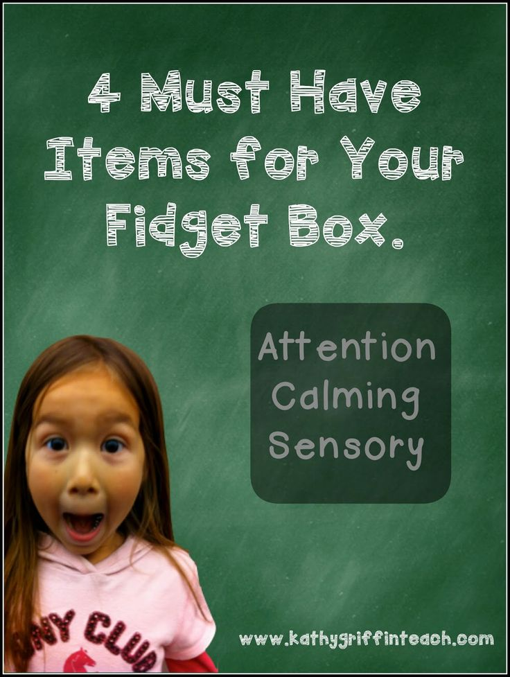 "Do you need ideas for creating a fidget box for your classroom?  Check out these 4 ""must have"" items to use for helping with attention and sensory issues."