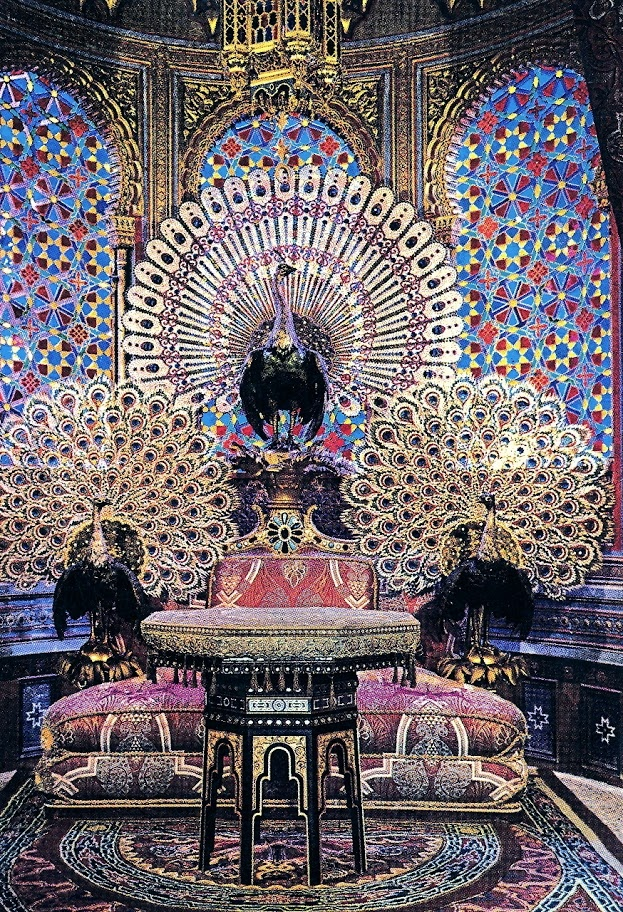 Peacock Throne in Moorish Kiosk, Linderhof Castle, Germany ...