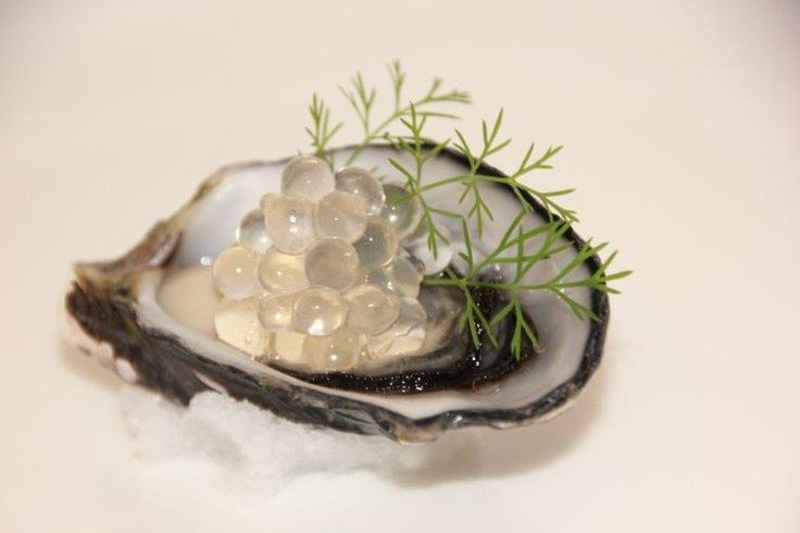White balsamic Flavour Pearls, Coffin Bay oyster
