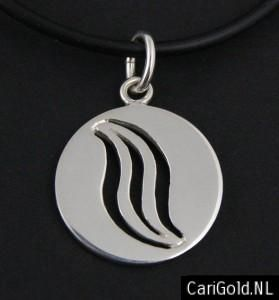 Marillion Jewellery Sterling silver Marble pendant-(20mm), inspirated by the CD Marbles- made by Karin Hengeveld - PENMAR20- CariGold- www.carigold.nl