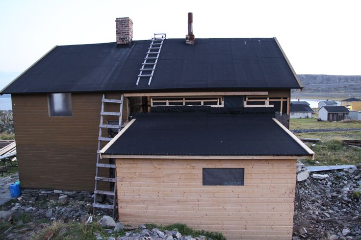 Summer 2013 results. Chimney restored , and small house added to main house.