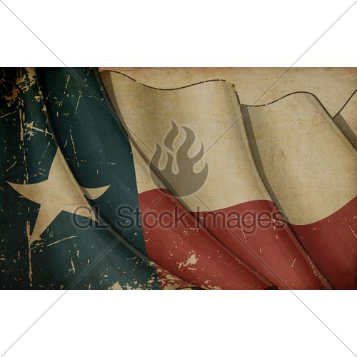 Illustration Of A Rusty Us Ensign Printed On Ol...