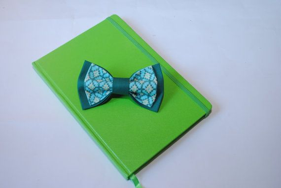 Wedding bowtie EMBROIDERED jade spa bow tie For от accessories482