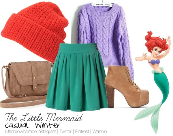 """The Little Mermaid Inspired Outfit"" by littlebrownaimee ❤ liked on Polyvore"