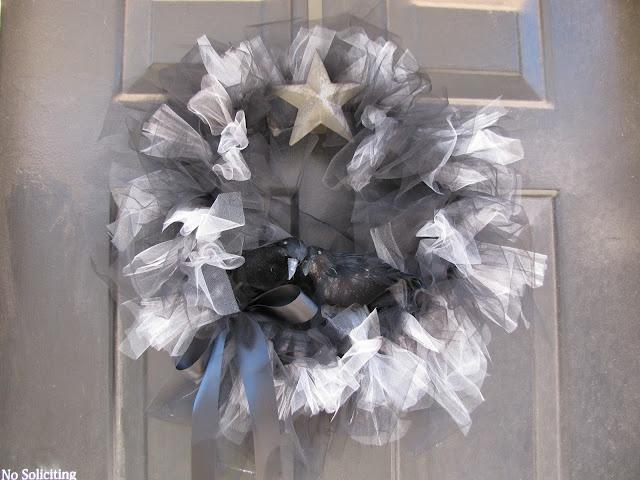 day 3 halloween tulle wreath