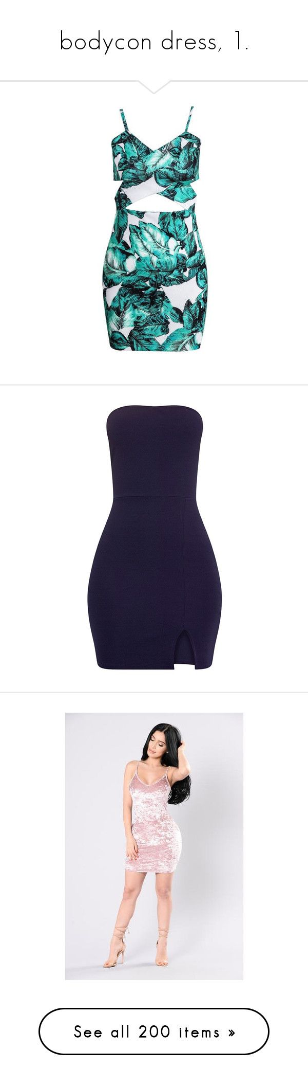 """""""bodycon dress, 1."""" by theimanimo ❤ liked on Polyvore featuring dresses, vestidos, bodycon dress, patterned bodycon dress, print dress, pattern dress, blue pattern dress, bandeau dress, body con dresses and bandage dresses"""