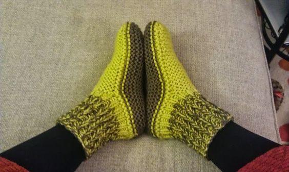 Le modèle des chaussons bien chauds à mettre à tous les pieds ! ~ Balaine | Laine online discount | Modeles gratuits