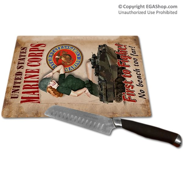 Our Tempered Glass Cutting Board Features A Design From A Vintage Wwii Poster Reading Quot First To