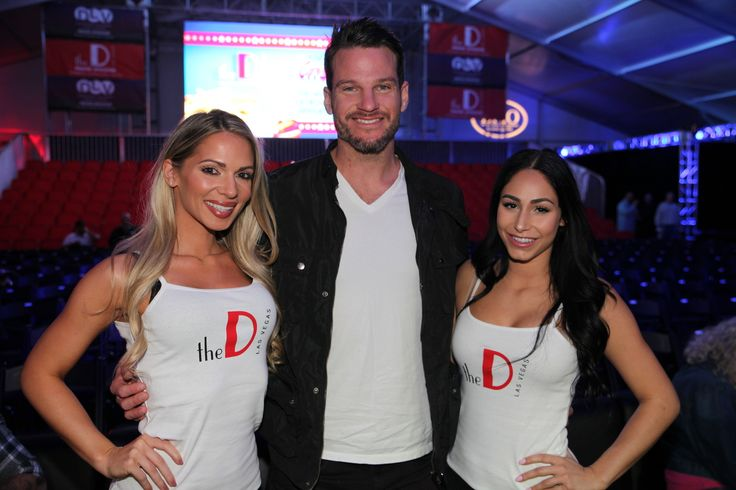 Reality TV star from Bachelor In Paradise, Jesse Kovacs, watches boxing event at the Downtown Las Vegas Events Center.