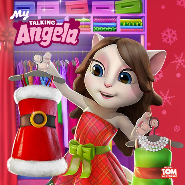 Christmas Party Dress Up Games: 356 Best Images About Talking Angela