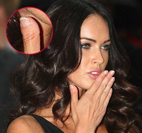 i actually have identical thumbs to megan fox.