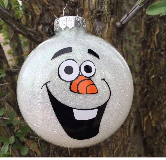 Snowman Ornament Olaf Ornament Character by AnchorsAndAvocados