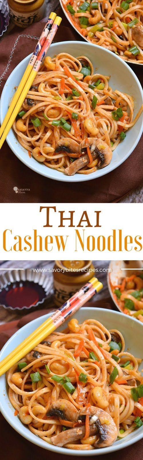 Thai Cashew Noodles - Savory Bites Recipes