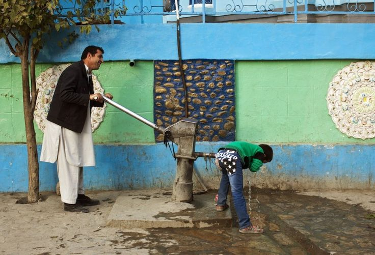 Photo essay: Filmmaking on the streets of Kabul -  water pumps in downtown Kabul.