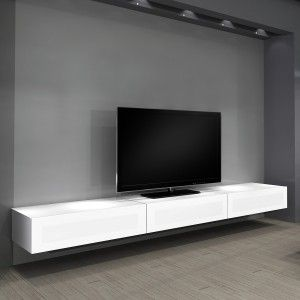 white floating shelves around tv - Google Search