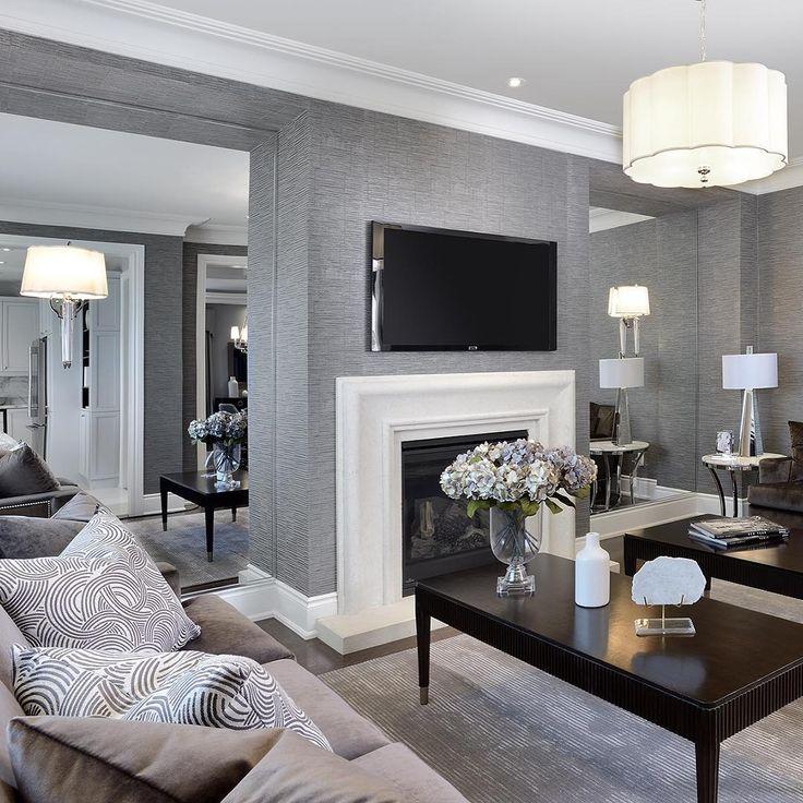 168 best Interiors | Grey images on Pinterest | Living room ideas ...