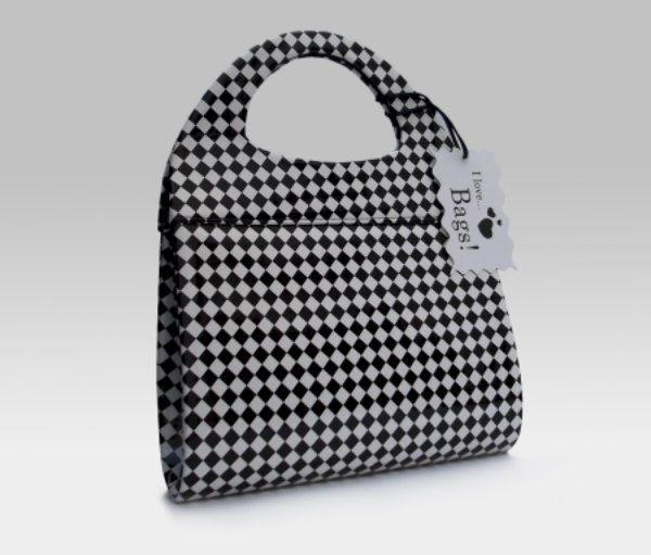 Bolso Damero ISABELLA Blanco y Negro | Bolsos de señora de Fiesta y Fashion