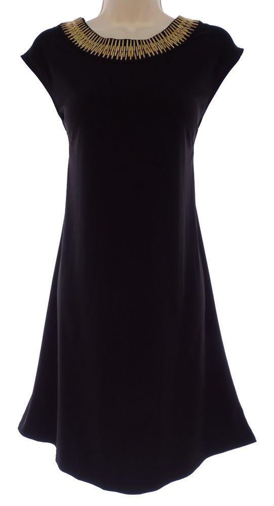 16 Xl 1x Sexy Womens Little Black Dress Gold Hardware Evening