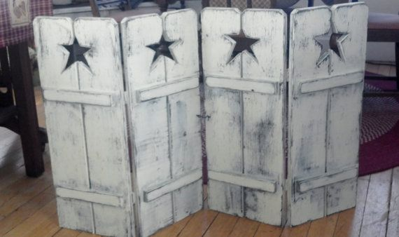 Handmade Primitive Star 30tall Shutters by ProphetBros on Etsy, $95.00