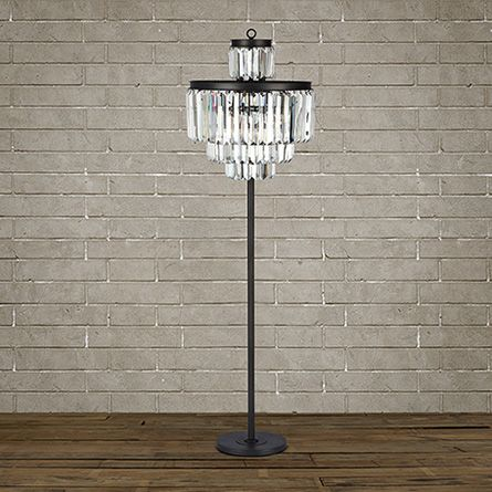 Leyland floor lamp in nickel