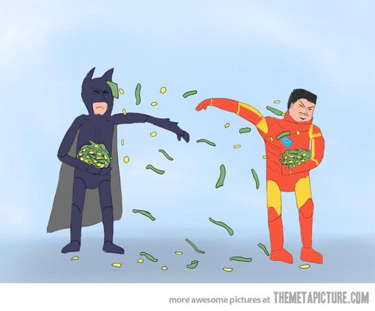 The ultimate battle between Batman and Iron Man…: Giggle, Ironman, Superhero A Duel, Fight Money, Richest Superhero A