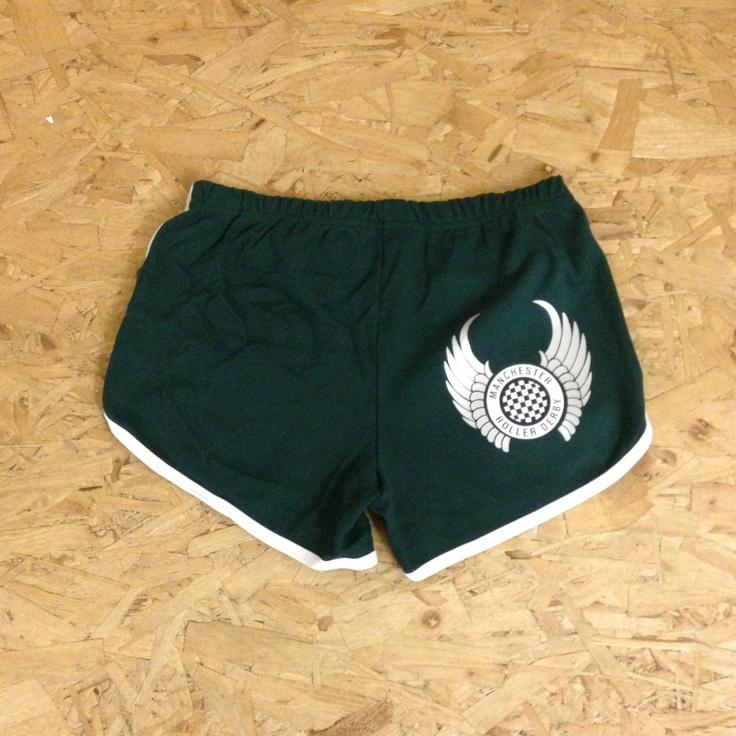 Custom roller derby shorts for Manchester Roller Derby