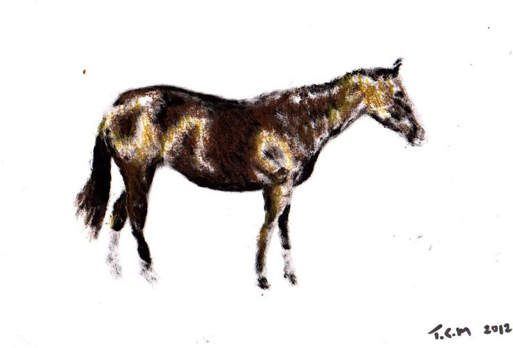 """""""Horse"""" Acrylic on paper A4"""