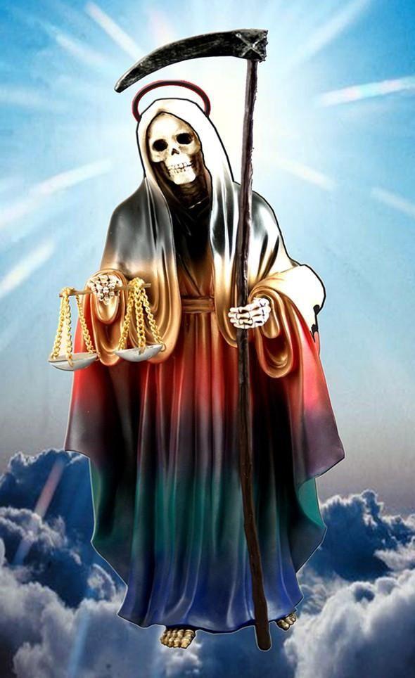 Tarjeta De Oracion De La Santa Muerte Santa Muerte Tatuajes De
