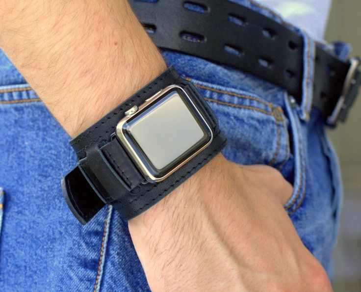 Gifts for Men – Apple Watch Strap Vintage Black 38mm 42mm – a unique product by dganin on DaWanda