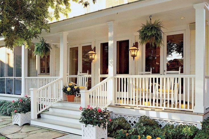 38+ Inspiring Farmhouse Front Porch Steps Decor Ideas